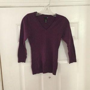 H&M Maroon V-Neck Sweater